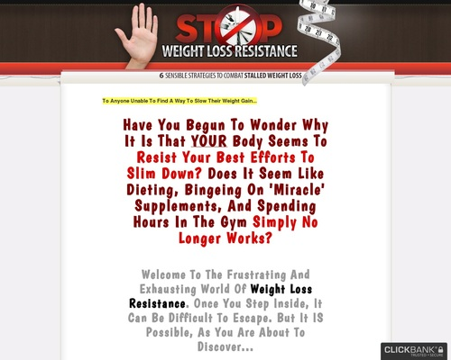 Stop Weight Loss Resistance