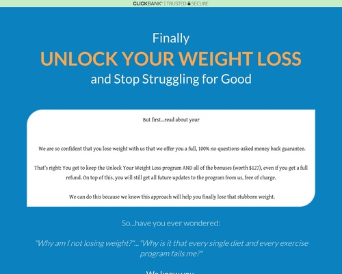 Unlock Your Weight Loss: Finally A New Way Focused On Mental Strength