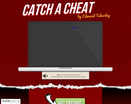 Catch A Cheat! With New Vsl And Exit Pop Up!