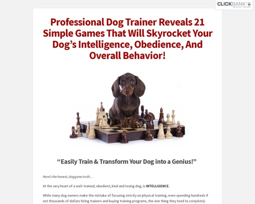 Brain Training For Dogs – Unique Dog Training Course! Easy Sell!