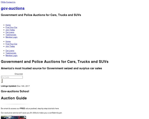 Gov-auctions.org – #1 Government & Seized Auto Auctions. Cars 95% Off!