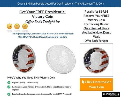Trump 2020 Gold Plated Coin – Yuuuge Roi!