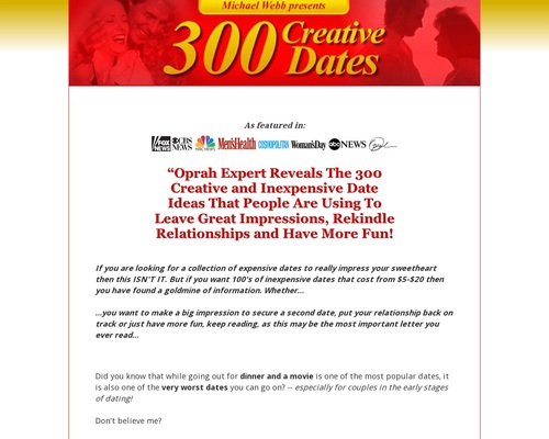300 Creative Dates – By Oprah Dating And Relationship Expert.