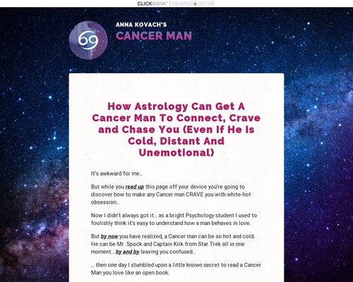 Cancer Man Secrets: Zodiac Attraction And Seduction Guide