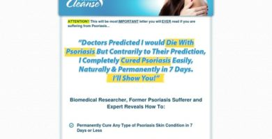 Psoriasis Cleanse – 75% Commision / High Conversions