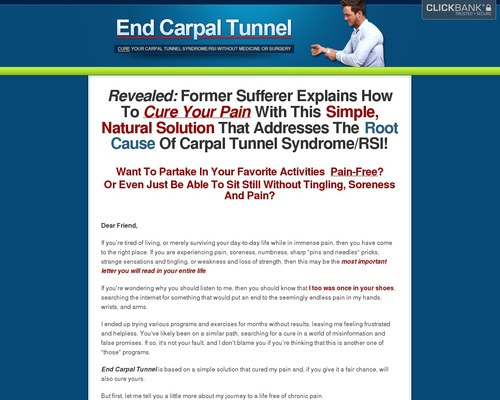 End Carpal Tunnel – Cure Cts / Rsi With The Only True Cure