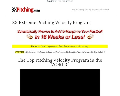 Increase Pitching Velocity – 3x Pitching