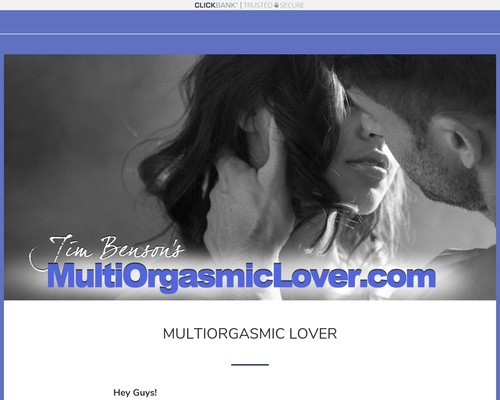Sex Product: Multi Orgasmic Lover – 50% Commission