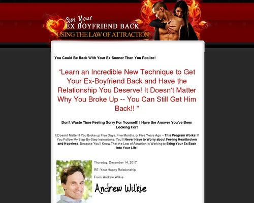 How To Get Your Ex Boyfriend Back Using The Law Of Attraction