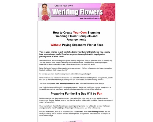 Create Your Own Wedding Flowers.