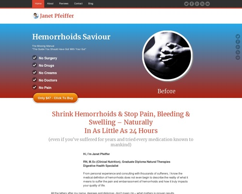 Hemorrhoids Saviour – Cure Hemorrhoids Forever – Now Pays $27