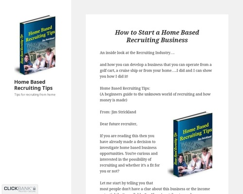 Home Based Recruiting Tips