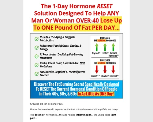 Over 40 Keto Solution – 100% Commish For Any Affiliate