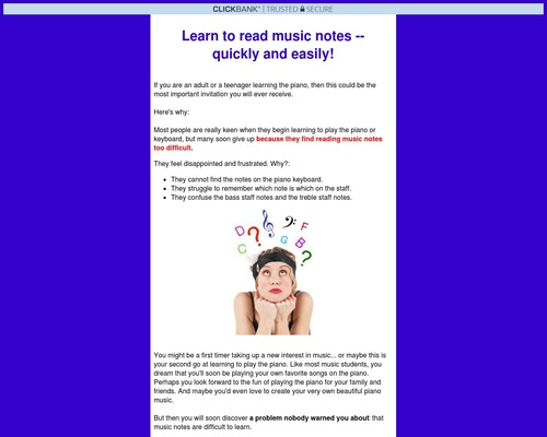 Read Music Notes Easily – For Adults.