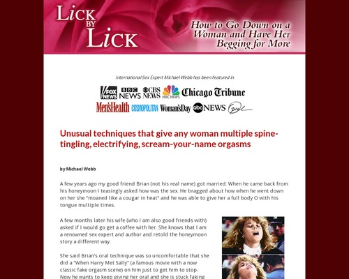 Lick By Lick – How To Give Oral Sex And Have Her Begging For More