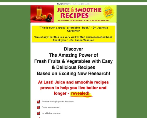 Ultimate Juicing & Smoothie Recipes & Tips – 6th Edition