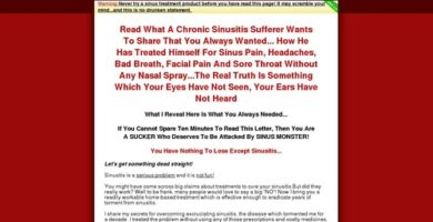 Sinus Treatment – Doctor Say Buy This Treatment