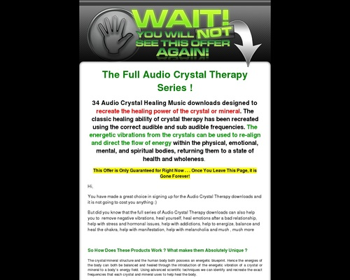 Audio Crystal Therapy