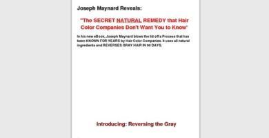 Natural Remedy To Reverse Gray Hair – Massive Conversion Rate!!