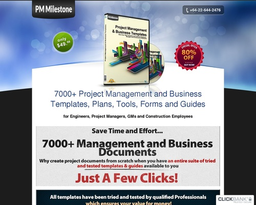Project Management Documents – Guaranteed High Converting Offer On CB