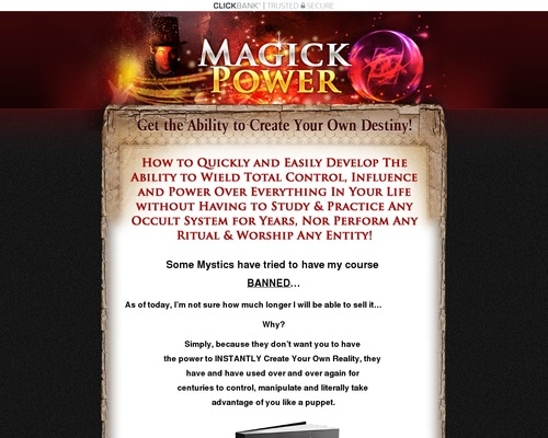Magickpower.com – Unique Best Selling Product! 3% Conversion Rate!