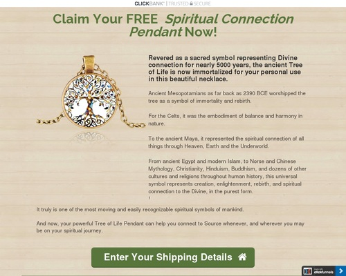 Free Spiritual Connection Pendant Offer
