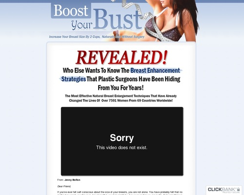 Natural Breast Enlargement – Boost Your Bust – 75% & $4.29 Epc's