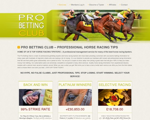 Professional Horse Racing Service