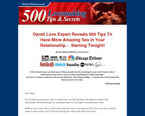 500 Lovemaking Tips & Sex Secrets