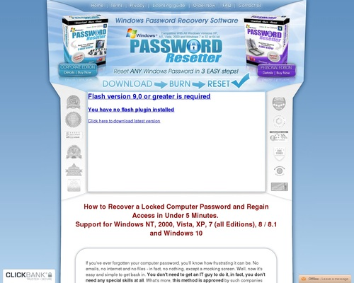 Password Resetter – Up To $90 Per Sale, First One On The Market!