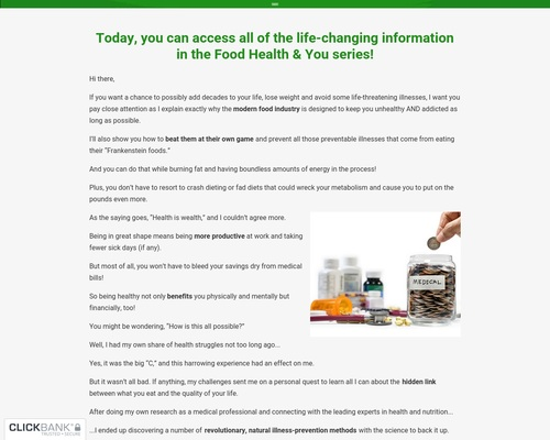 Food, Health & You – Complete Implementation System