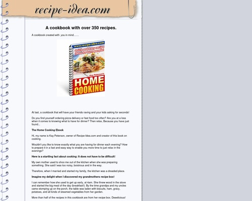 350 Recipe Ideas For Busy People.