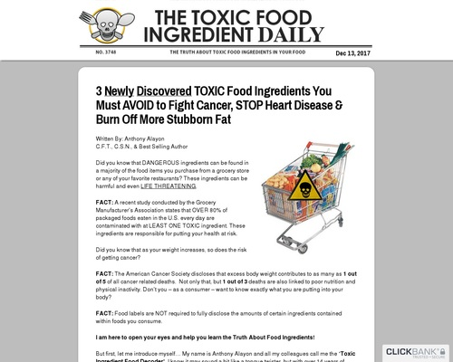 101 Toxic Food Ingredients – New Conversion Breakthrough