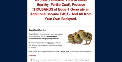 Raising Quail Made Easy – Brand New With A 7.39% Conversion Rate!
