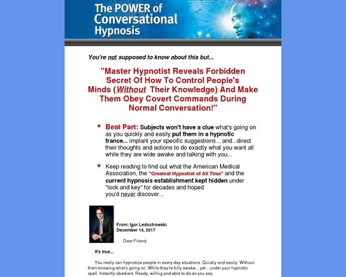 Power Of Conversational Hypnosis Crash Course And 20+ Products