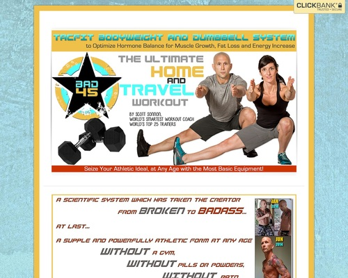 Bad45: Tacfit Bodyweight And Dumbell System