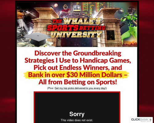 The Whale's Sports Betting University – Weekly Recurring Membership!