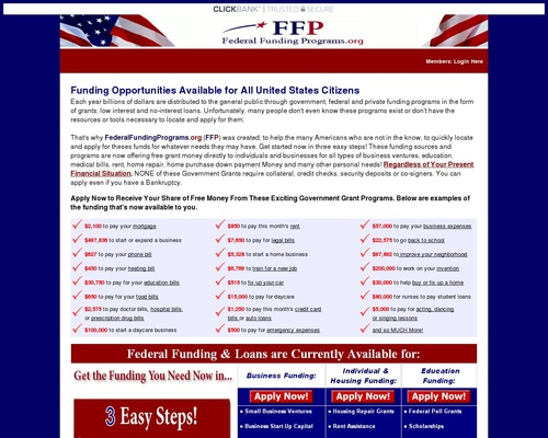 New & Converting Like Crazy! – Free Government Grants Program