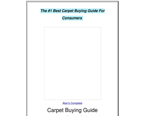 The Complete Carpet Buying Guide