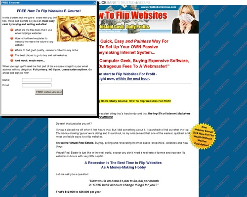 24.97 Commission!!! How To Flip Websites Home Study Course