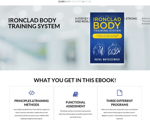Ironclad Body Training System Ebook