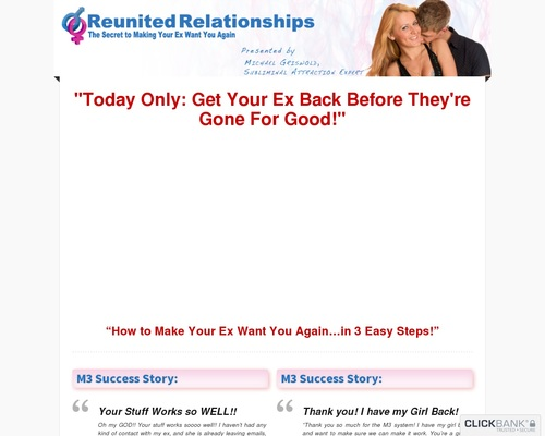 M3 System: Get Your Ex Back – Boyfriend/girlfriend