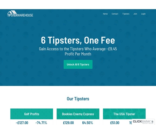 Tipster Warehouse – Multiple Tipsters, One Fee