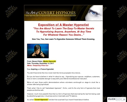 The Art Of Covert Hypnosis – Massive Commissions – Extreme Conversions