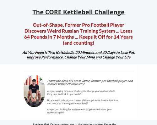 The Core Kettlebell Challenge
