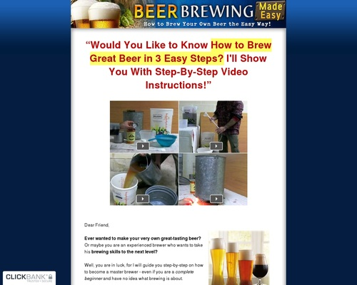 Beer Brewing Made Easy ~ High Conversions Huge Market – With Video!