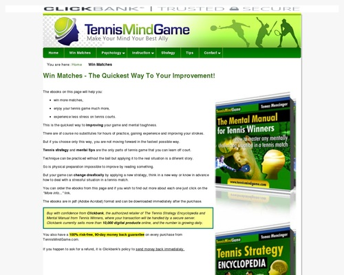 Win Tennis Matches – Strategy And Mental Guides