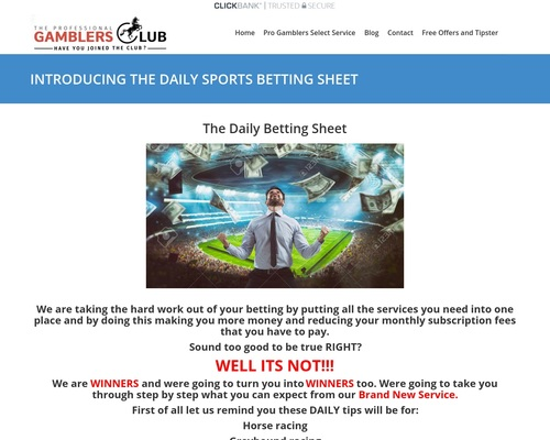 The Daily Sports Betting Sheet 4 Sports In 1 Service