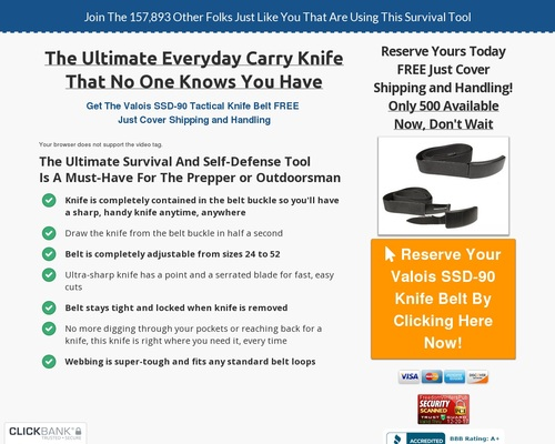Out Of Stock – The Dan Valois Self Defense And Survival Belt