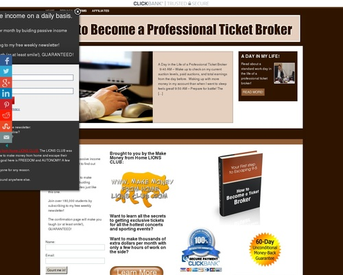 How To Become A Ticket Broker And Make Money From Home